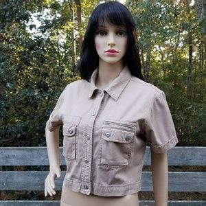 Abercrombie & Fitch Cropped Utility Shirt